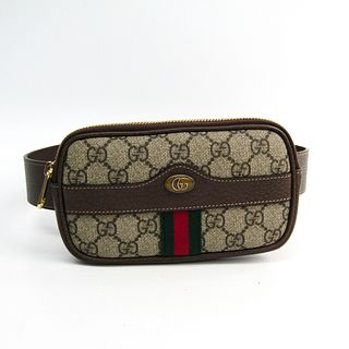 Gucci Ophidia Belted Iphone Case 519308 Women's GG Supreme,Leather/Webbing Fanny Pack Beige,Brown BF332637