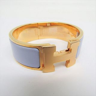 Hermes Clic Clac PM 300001FO4FPM Cloisonne/enamel,Metal Bangle Light Purple,Silver BF336342