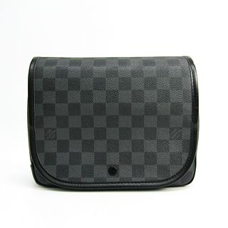 Louis Vuitton Damier Graphite Hanging Toiletry Kit N41419 Men's Pouch Damier Graphite BF334004