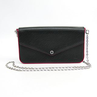 Louis Vuitton Epi Pochette Felice M64579 Women's Epi Leather Chain/Shoulder Wallet Hot Pink,Noir BF337333