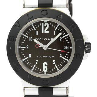 BVLGARI Alminium Carbon Dial Rubber Automatic Mens Watch AL38TA BF527449