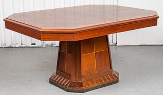 Art Deco Mixed Wood Dining Table