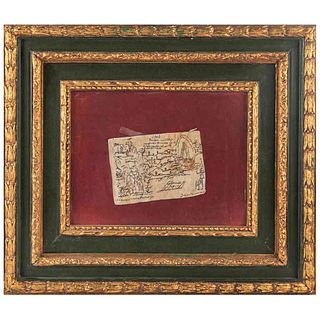 Códice 1548 ó Códice Javier Escalada. Facsimilar. México, Siglo XX. Tinta sobre piel, 12.5 x 18 cm. Enmarcado.