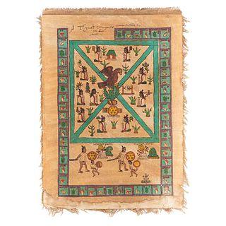 Códice Mendocino. Portada. México: Siglo XX. Pintado a mano, sobre papel. Montado sobre lino, 47.7 x 34.5 cm.