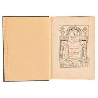 Grijalva, Juan de. Crónica de la Orden de N. P. S. Agustín en las Provincias de la Nueva España. México: Imprenta Victoria, 1924.
