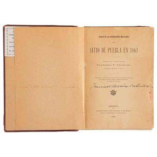 Troncoso, Francisco P. Diario de las Operaciones Militares del Sitio de Puebla en 1863. México,1909. 22 láminas.