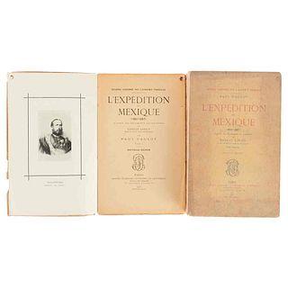 Gaulot, Paul. L'Expédition du Mexique(1861-67).D'après les Documents et Souvenirs de Ernest Louet.Paris,1906. Tomos I-II. 1 lám. Pzs: 2