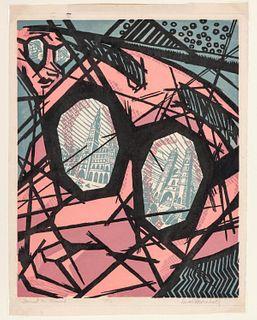 DUARD MARSHALL (1914-2010) PENCIL SIGNED PRINT