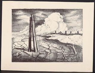 JOSEPH VORST (1897-1947) PENCIL SIGNED LITHOGRAPH
