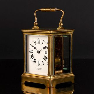 R & Co, Paris Brass Petite Sonnerie Carriage Clock