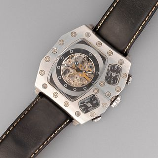 Acid Stainless Steel Automatic Wristwatch
