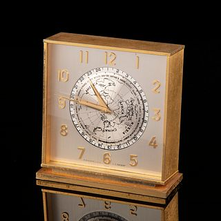 Tiffany & Co. Gilt World Time Desk Clock