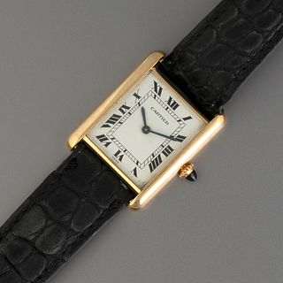 Cartier Louis Tank Gold Wristwatch