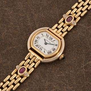 Cartier Ellipse White and Yellow Gold Wristwatch