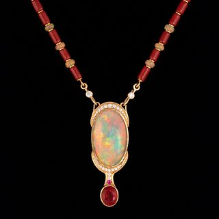 A Larry Vasquez 'Lady in Red' Necklace