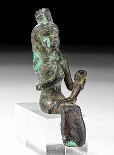 Egyptian Late Dynastic Bronze Isis and Horus