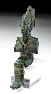 Egyptian Late Dynastic Leaded Copper Osiris