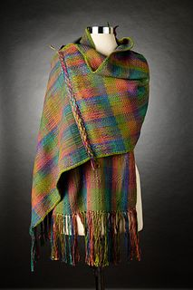 Drop Dead Gorgeous Handwoven Mixed Twill Patterned Shawl
