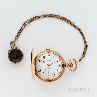 Invar 14kt Gold Grand Sonnerie Minute-repeating Hunter-case Watch or Clockwatch and Chain