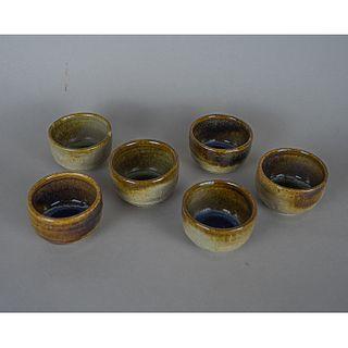 Aquímero Mezcalero. Set de 6 vasos para mezcal en cerámica / Set of 6 ceramic mezcal glasses