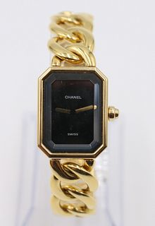 Ladies Chanel Premiere 18K Gold Dress Wristwatch