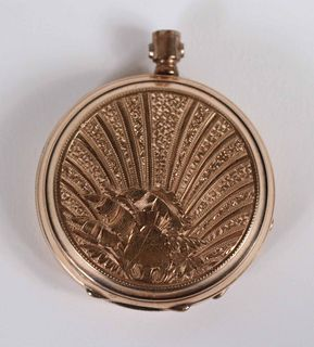 Vintage Adolphe Huguenin Gold Filled Pocket Watch