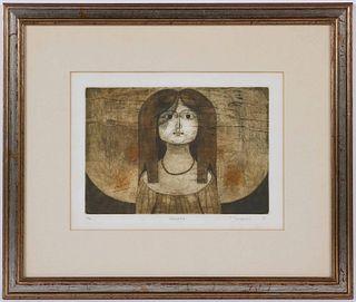 """Tsuneo Tamagami, Print, """"Hanako"""""""