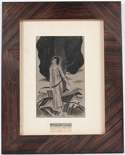 Georges Braque, Ink Drawing, Diana The Huntress