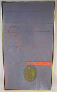Gyorgy Kepes, Oil & Sand on Canvas, Grisaille #11