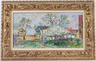 David Davidovich Burliuk, Oil on Canvas, Village
