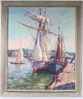 """Emile A. Gruppe, Oil on Canvas, """"The Yankee"""""""