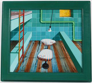 Gedi Sibony, Oil on Board, Jail Cell