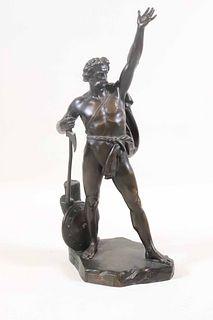 John Henry Foley, Bronze Sculpture of Warrior