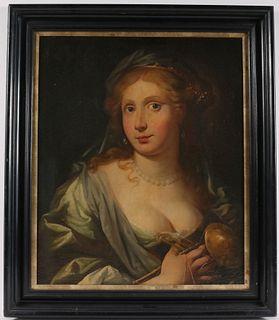 Oil on Canvas, Portrait of an Elegant Lady
