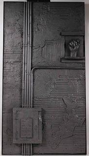 "Rico Weber, Lead Sculpture, ""Mano Fica"""