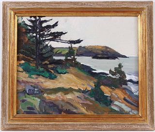 Oil on Canvas, C Huntington Monhegan Island Maine