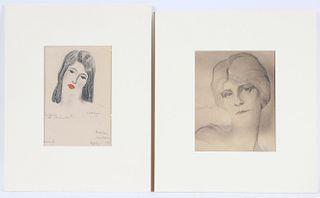 "Boris Lovet-Lorski, Drawing, ""Cathelene 2"""