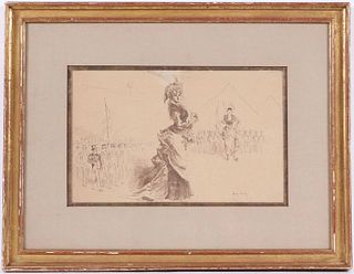 Henry Somm, Pen, Ink, & Wash, Figures