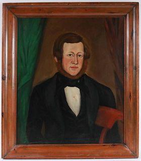 Oil on Canvas, Portrait of a Gentleman