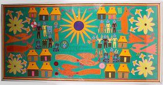 Mixed Media, Beeswax and Yarn, Peyote Vision Art