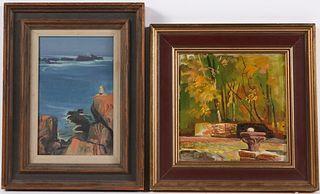 Adolf Konrad, Oil on Board, Fall Foliage