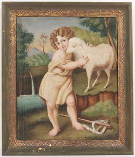 Oil on Canvas, The Infant Saint John the Baptist