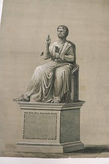 Old Master Ink, Chalk and Wash, Saint Peter