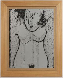 Drawing, Female Nude, Michel Faublee