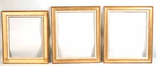 Three Giltwood French Picture Frames Delf Cadres