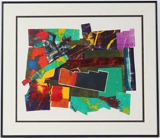Paul Sarkisian, Collage Acrylic on Paper