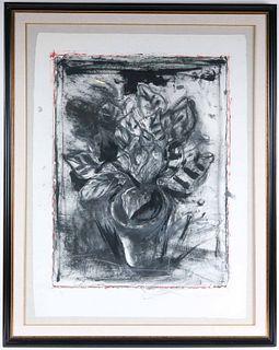 """Jim Dine, Color Lithograph, """"The Jerusalem Plant"""""""