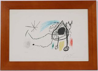 Joan Miro, Lithograph, Sobreteixims I Esxultures