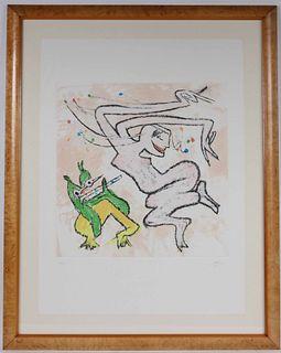 Roberto Matta, Lithograph, Abstract Figures