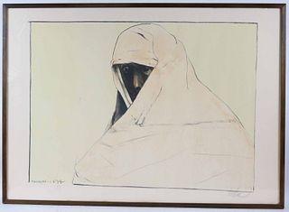 Leonard Baskin, Lithograph, A Cheyenne Woman